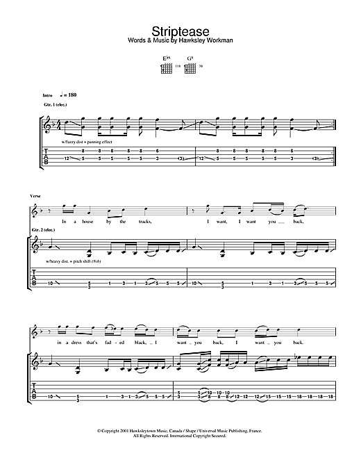 Striptease Sheet Music