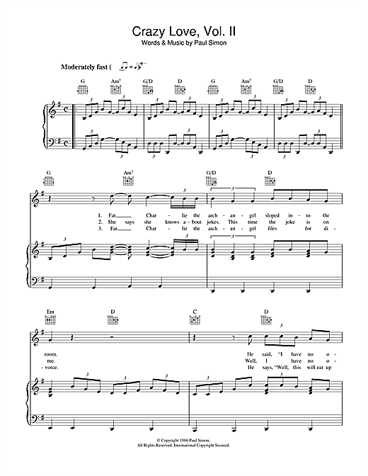 Crazy Love Vol. II Sheet Music