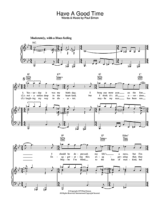 Have A Good Time Sheet Music