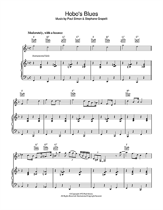 Hobo's Blues Sheet Music