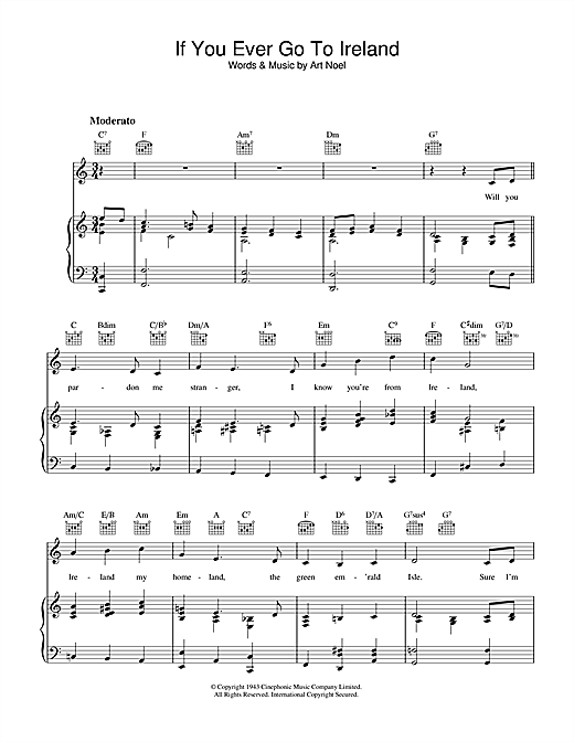 If You Ever Go To Ireland Sheet Music