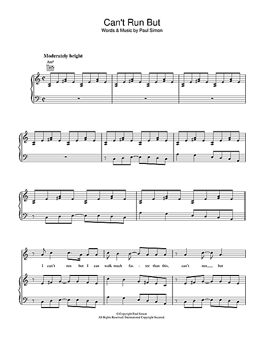 Can't Run But Sheet Music