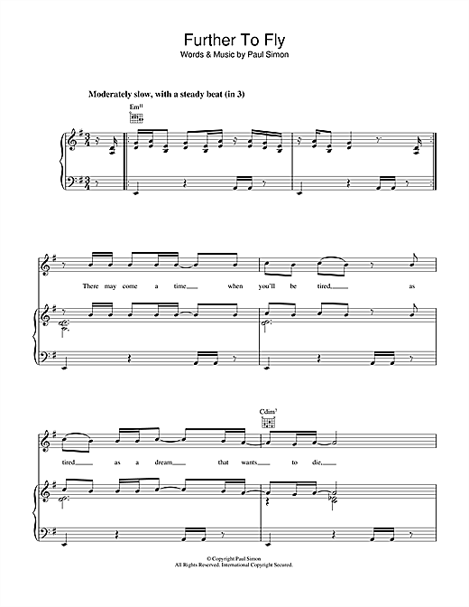 Further To Fly Sheet Music