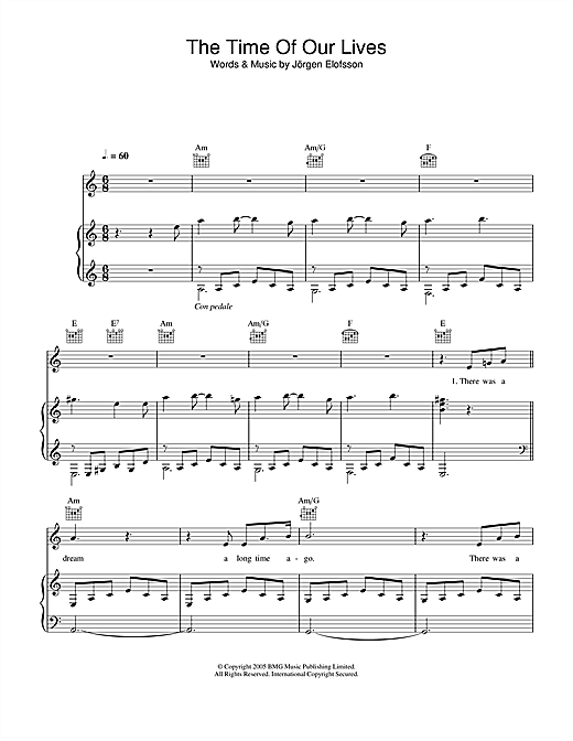 The Time Of Our Lives Sheet Music