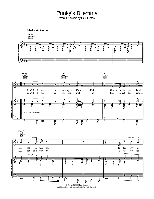 Punky's Dilemma Sheet Music