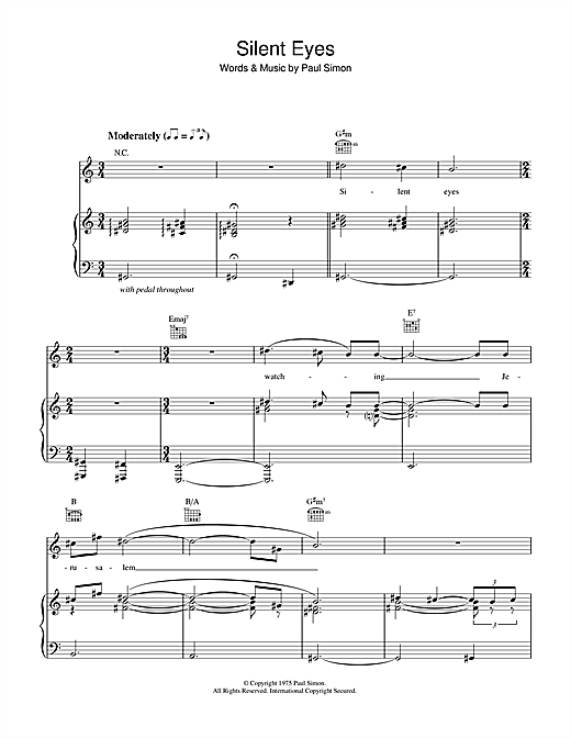 Silent Eyes Sheet Music