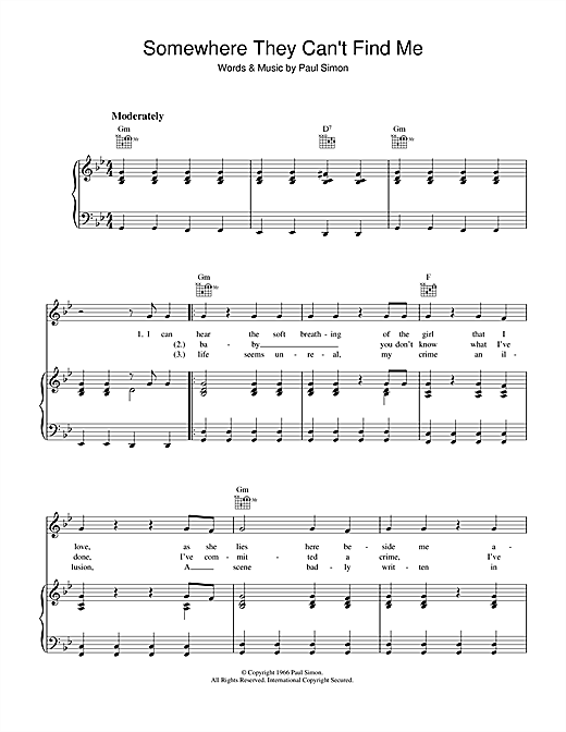 Somewhere They Can't Find Me Sheet Music