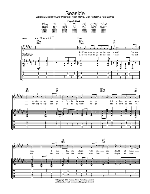 Seaside Sheet Music