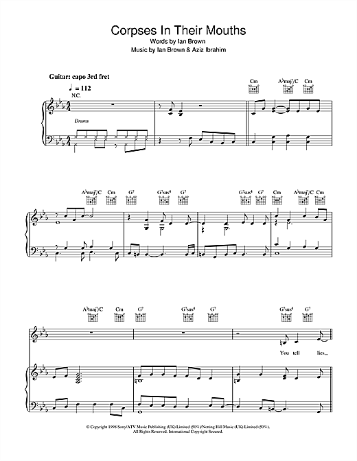 Corpses In Their Mouths Sheet Music