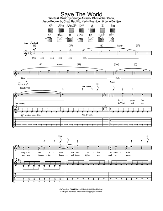 Save The World Sheet Music