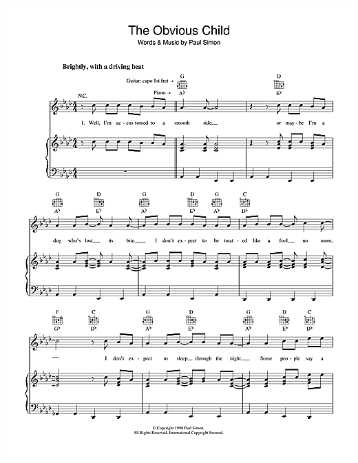 The Obvious Child Sheet Music