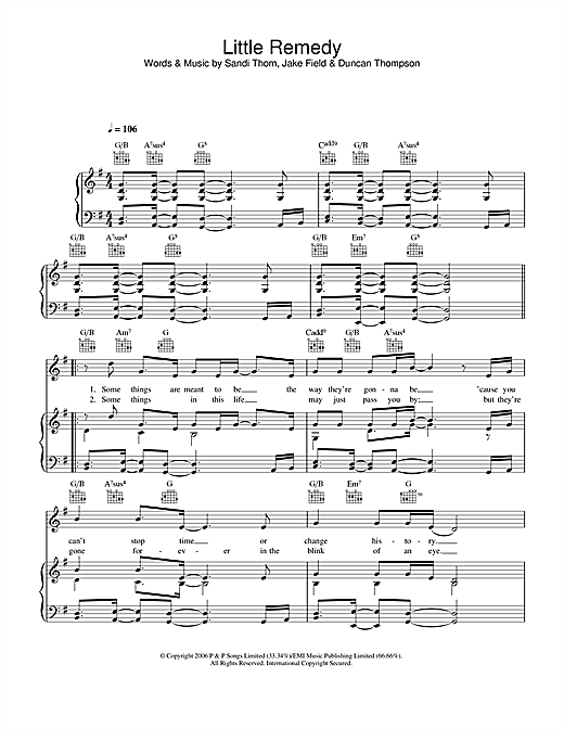 Little Remedy Sheet Music