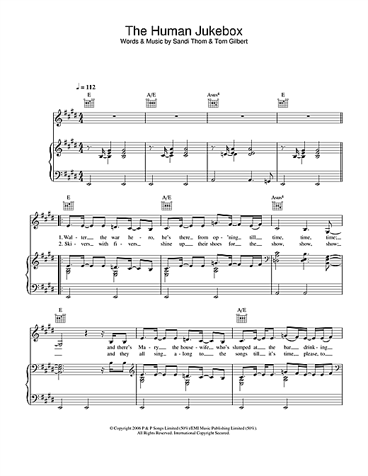 The Human Jukebox Sheet Music