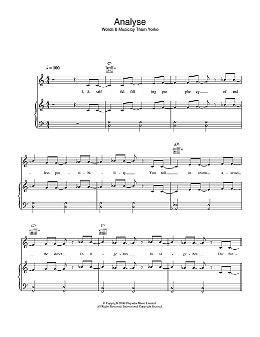 Analyse Sheet Music