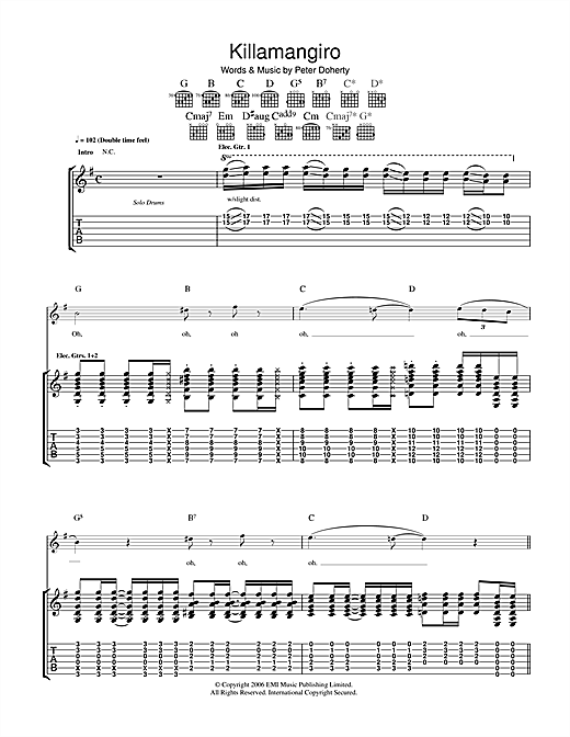 Killamangiro Sheet Music