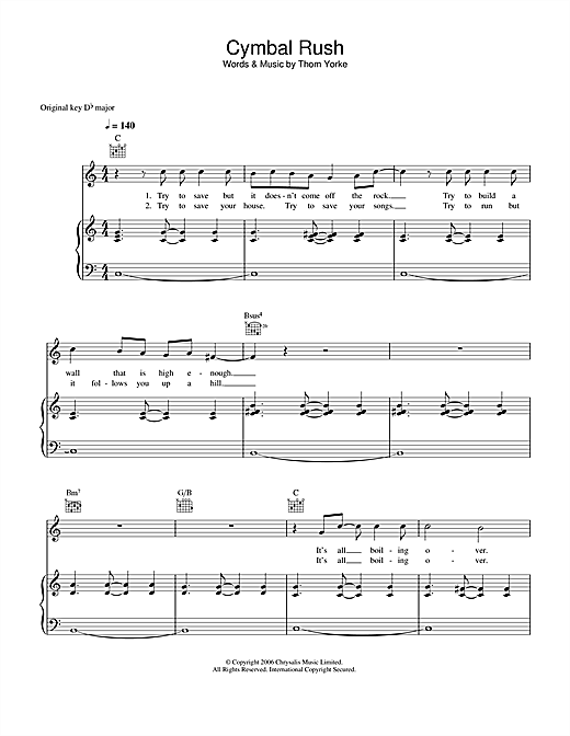 Cymbal Rush Sheet Music