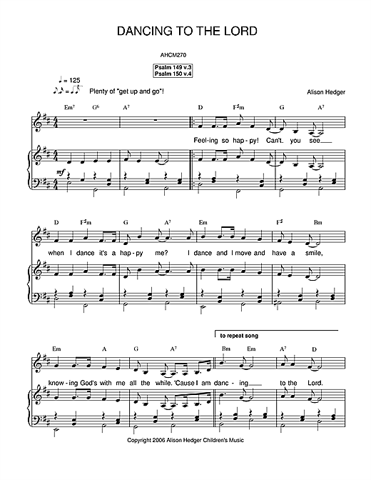 Dancing To The Lord Sheet Music
