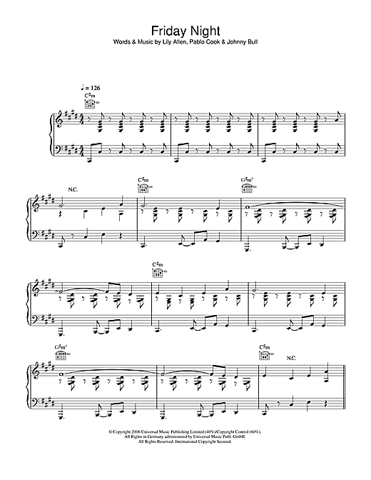 Friday Night Sheet Music
