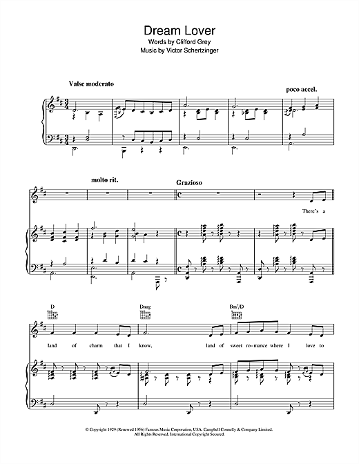 Dream Lover Sheet Music