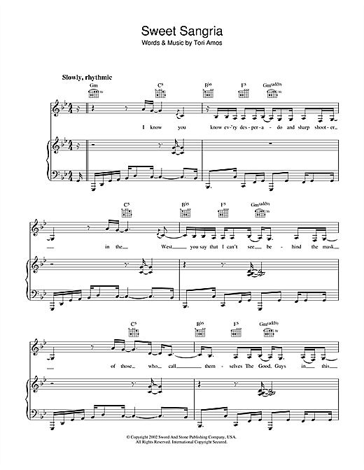 Sweet Sangria Sheet Music