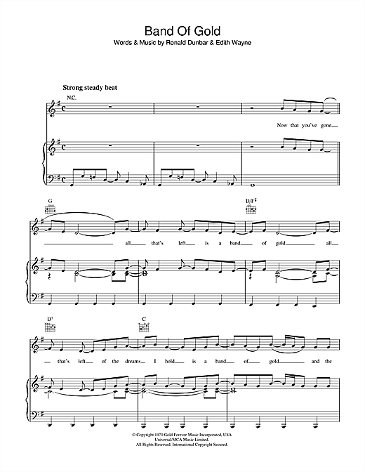 Band Of Gold Sheet Music
