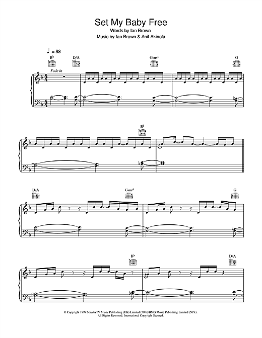 Set My Baby Free Sheet Music