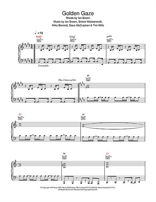 Golden Gaze Sheet Music