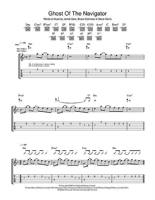Ghost Of The Navigator (Guitar Tab)