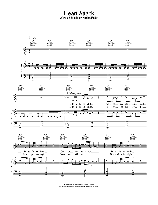 Heart Attack Sheet Music