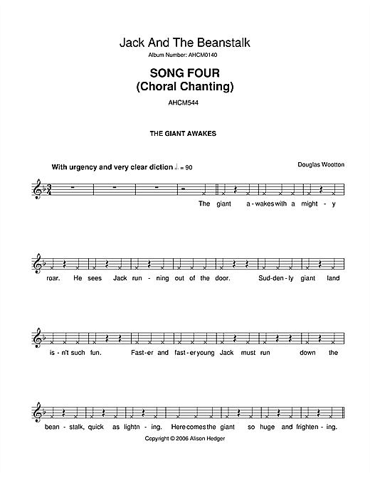 Song 4 (from Jack And The Beanstalk) (Lead Sheet / Fake Book)