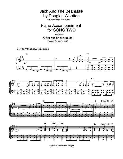 Song 2 (from Jack And The Beanstalk) (Piano Solo)