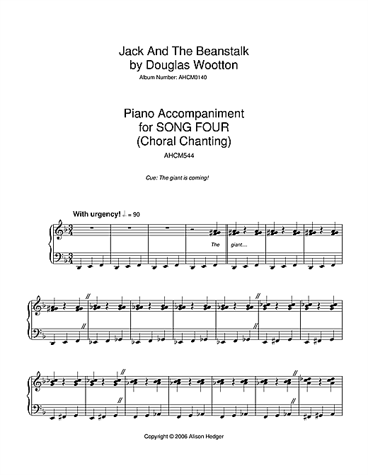 Song 4 (from Jack And The Beanstalk) Sheet Music