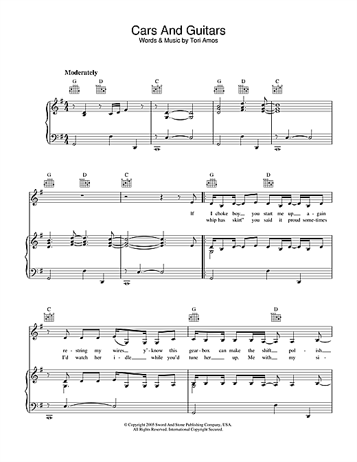 Cars And Guitars Sheet Music