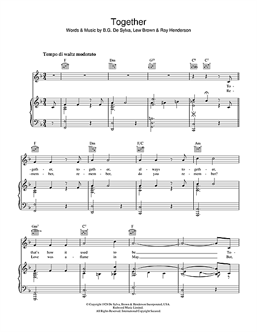 Together Sheet Music