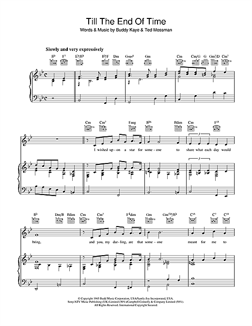 Till The End Of Time Sheet Music