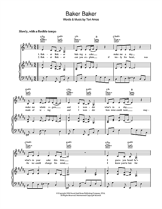 Baker Baker Sheet Music
