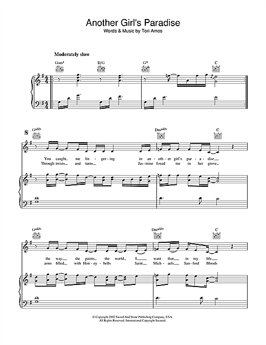 Another Girl's Paradise Sheet Music