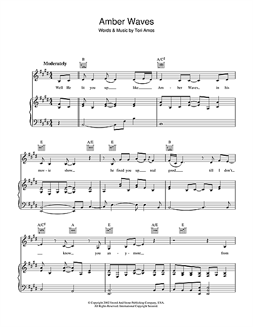Amber Waves Sheet Music