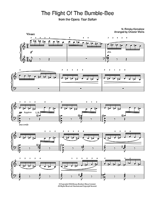 The Flight Of The Bumblebee (from The Tale Of Tsar Saltan) (Piano Solo)