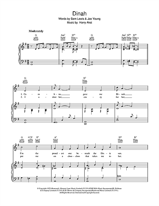 Dinah Sheet Music