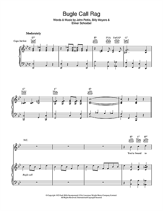 Bugle Call Rag Sheet Music