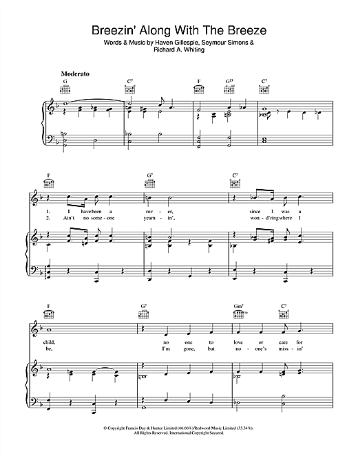 Breezin' Along With The Breeze Sheet Music