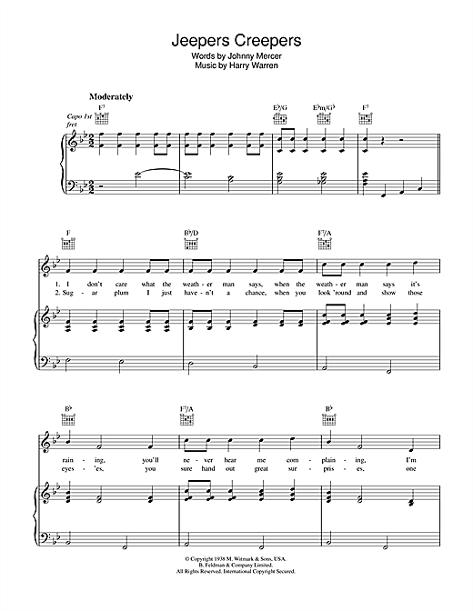 Jeepers Creepers Sheet Music