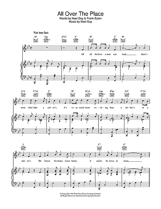 All Over The Place Sheet Music
