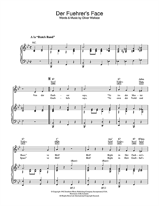 Der Fuehrer's Face Sheet Music