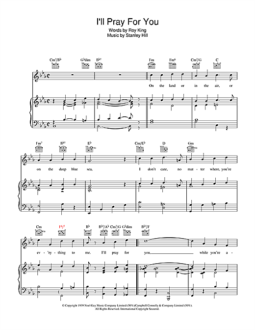I'll Pray For You Sheet Music
