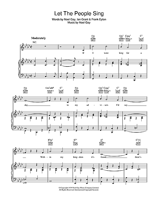 Let The People Sing Sheet Music