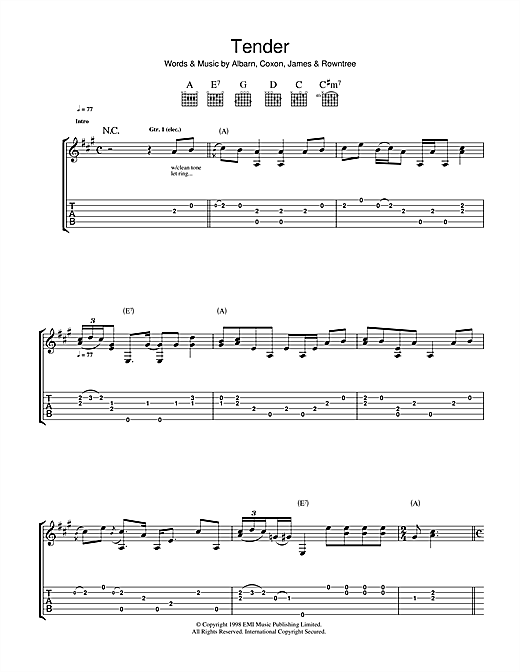 Tender Sheet Music