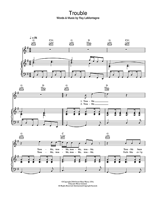 Trouble Sheet Music