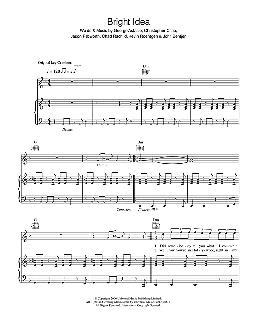 Bright Idea Sheet Music